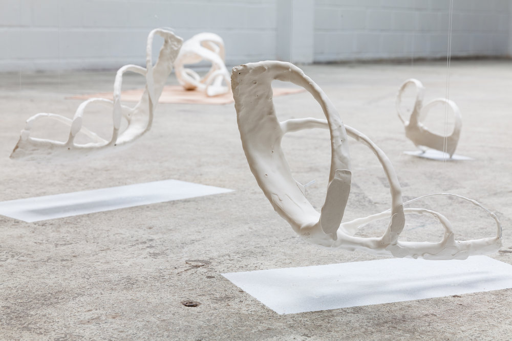 Alice Bandini,Vue de l'installation «Les Métamorphose,série II», 2016