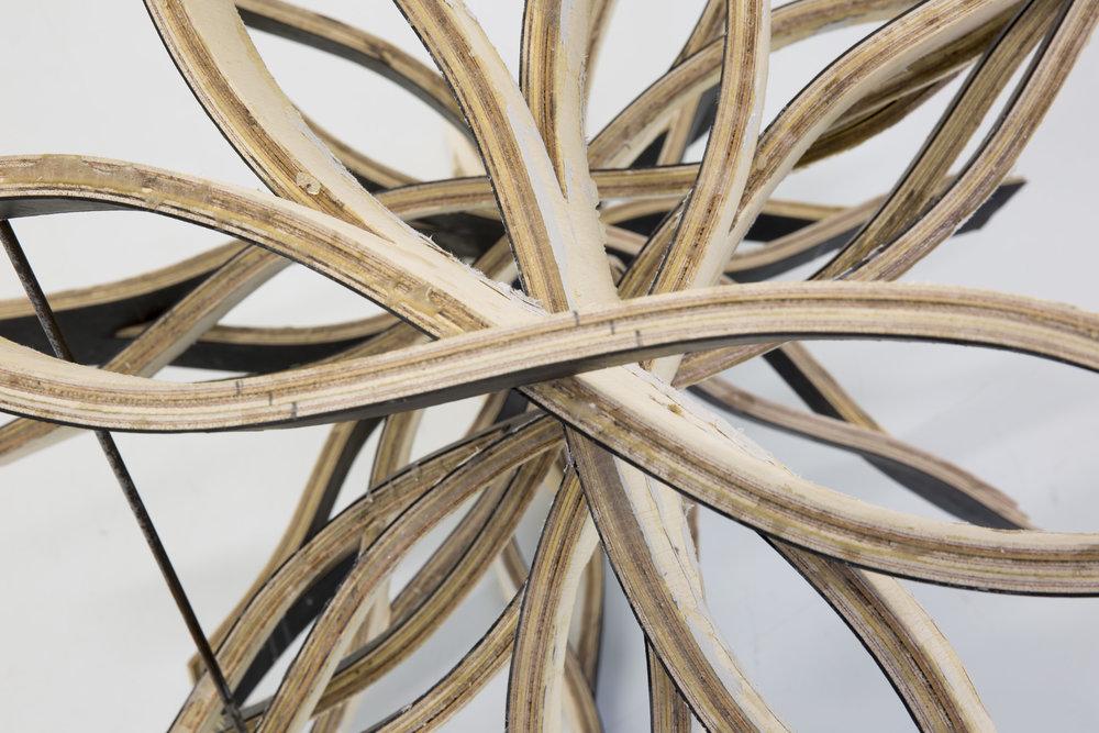 Kokou Ferdinand Makouvia,détail,When i make form, Bois, caoutchouc, métal,2016