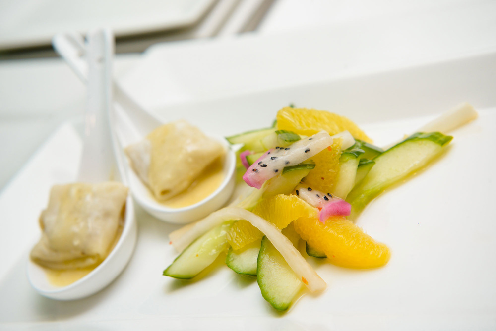 Ravioli and Melon