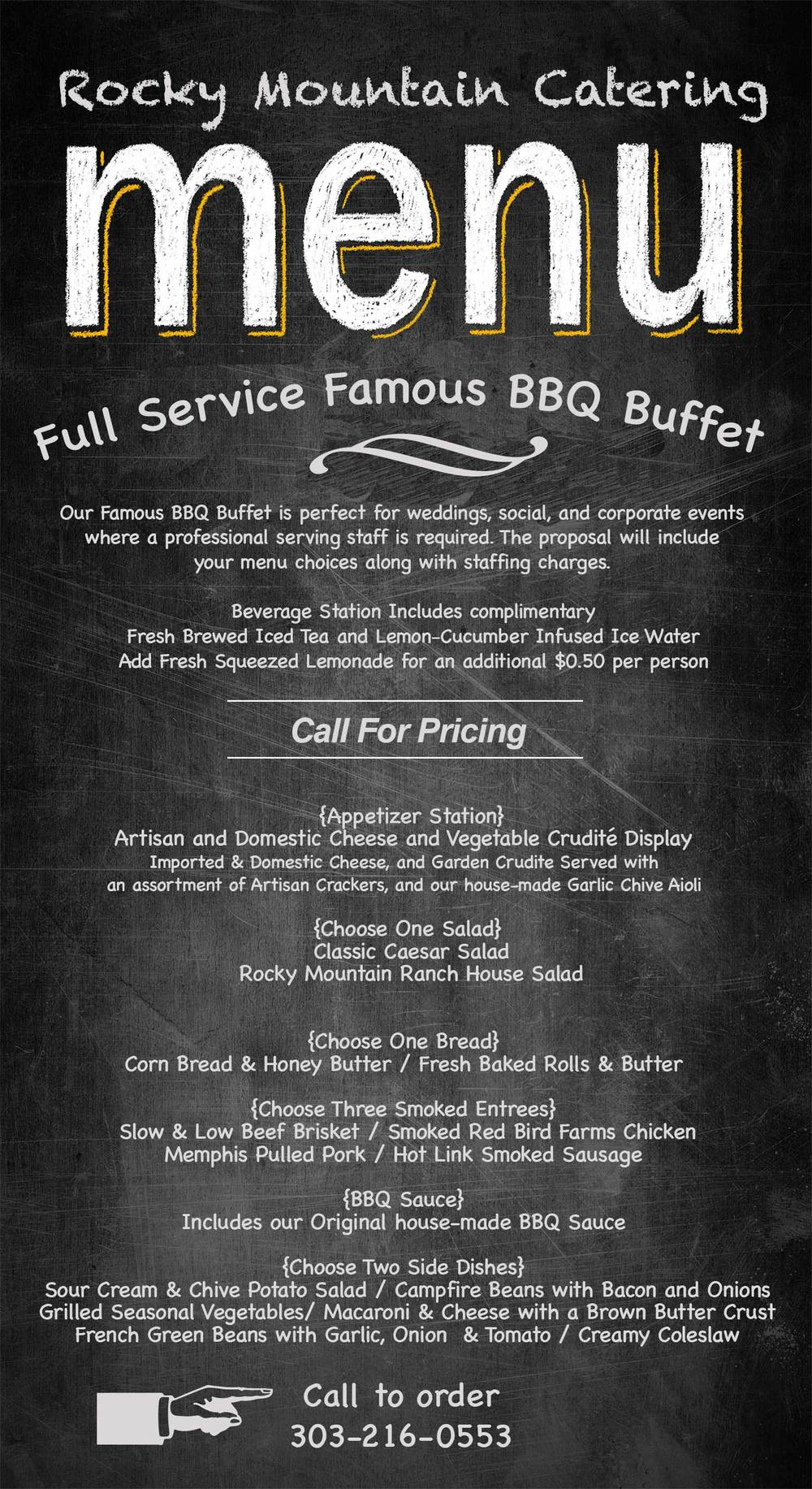 Full Service Famous BBQ Buffet
