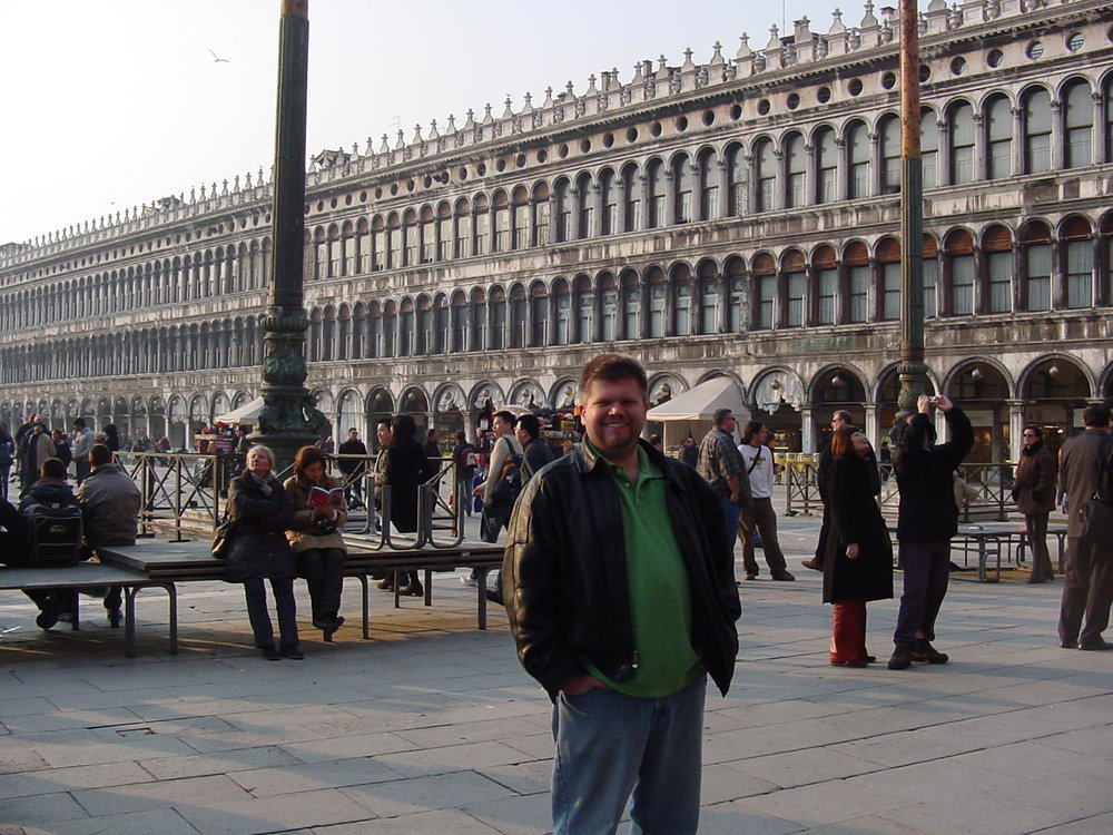The author of this blog in St. Mark's Square, November 2004.