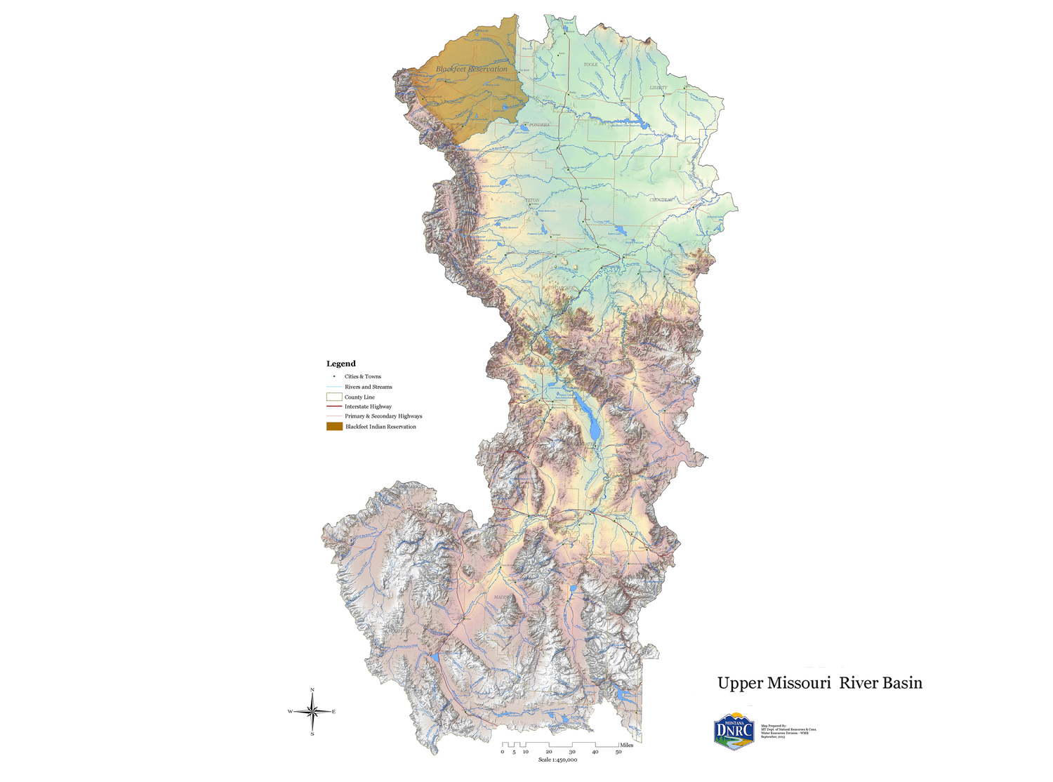 Montana State Map With Cities And Towns.2015 Montana State Water Plan Montana Water Center