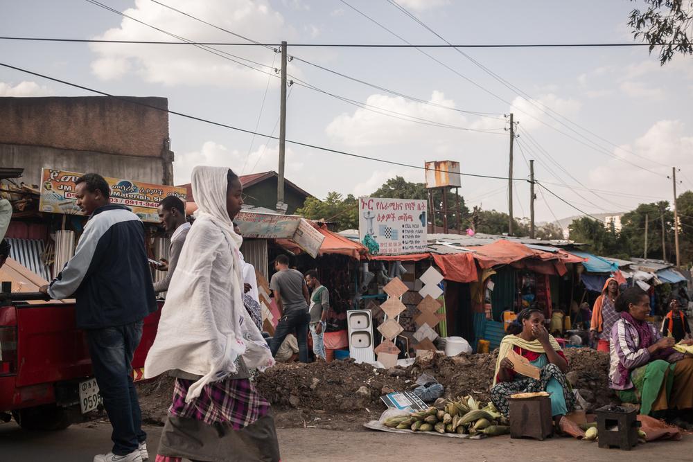 An Ethiopian bus stop