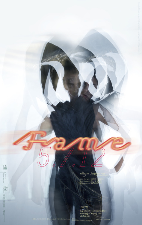 [ F.A.M.E. 2012 ] | show poster featuring one of my garments in a multi-flash photo session