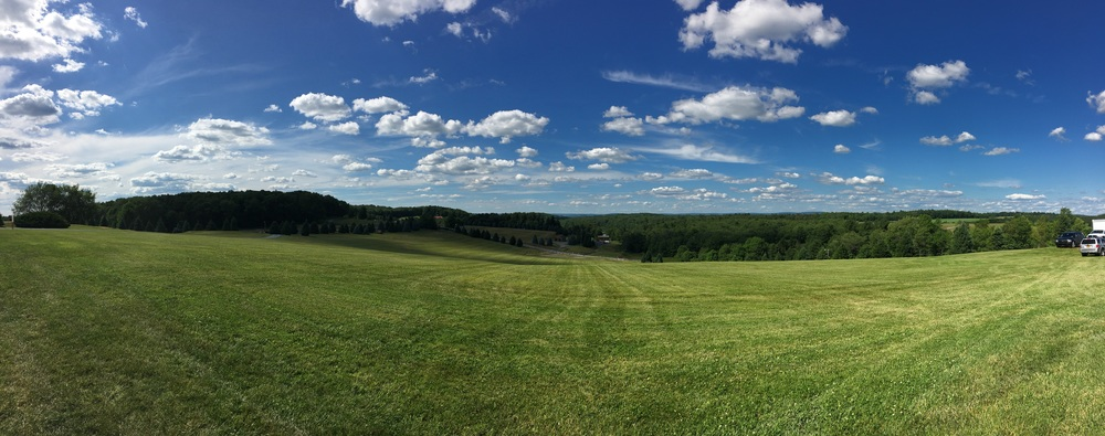 The view from the site of the Woodstock Art and Music Festival back in 1969