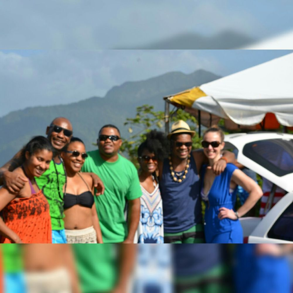 Misha of Love Grows with friends at Maracas Bay in Trinidad for Carnival 2016