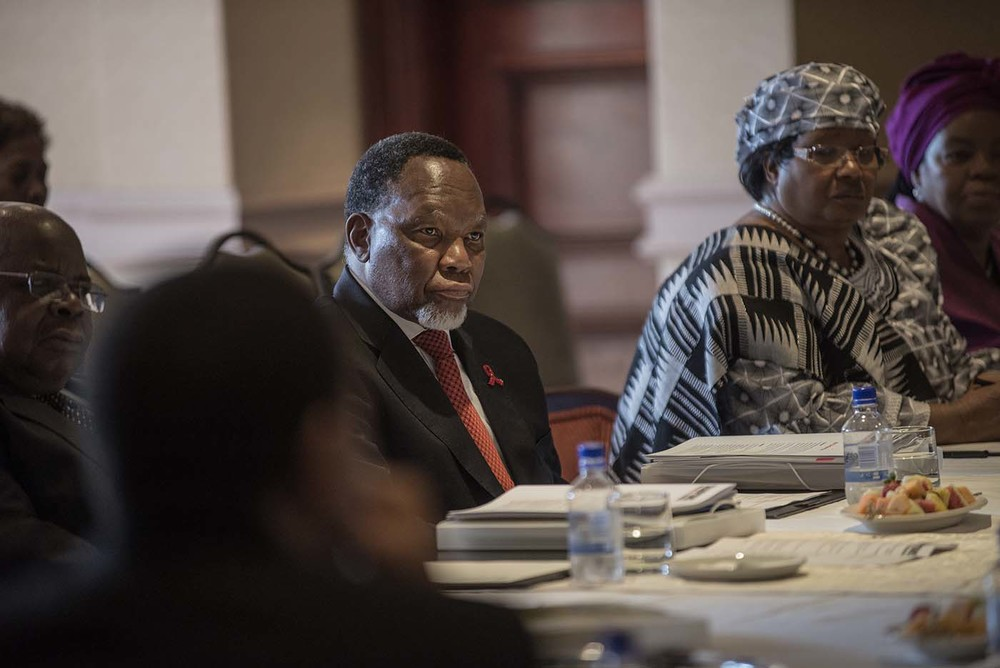 The former President of South Africa, Kgalema Motlanthe, at the board meeting of the Champions.