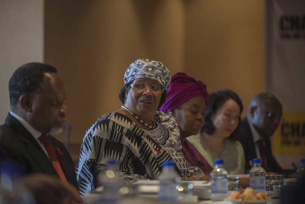 The former President of Malawi, Joyce Banda, at the board meeting of the Champions.
