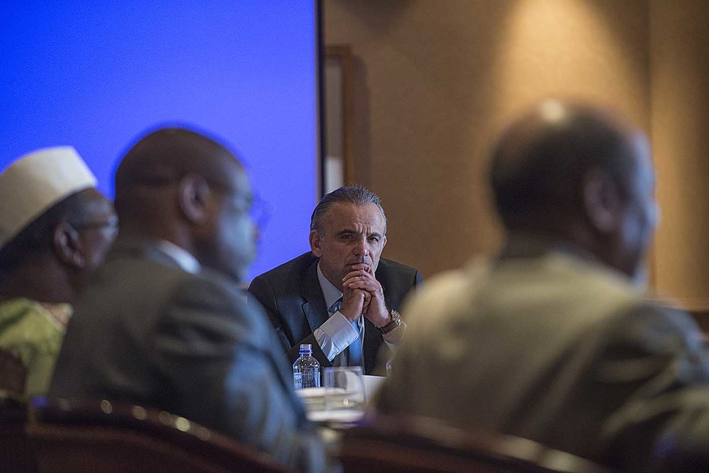 UNAIDS Deputy Executive Director, Luiz Loures, takes part in the board meeting of the Champions.