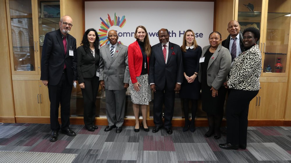H.E. Festus Mogae and H.E. Joaquim Chissano meeting with the Equality and Justice Alliance, Commonwealth House Tuesday 27th November 2018. The Equality and Justice Alliance comprises of Kaleidoscope Trust, Human Dignity Trust, Sisters for Change and The Royal Commonwealth Society.