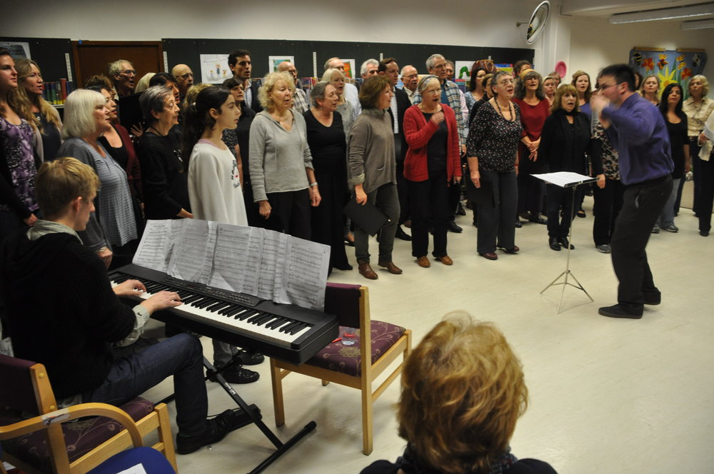 Singing at the Primrose Hill library