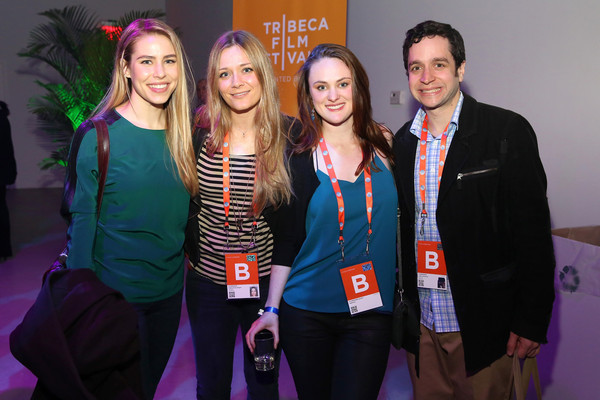 Alexandra Turshen, me, Olivia Bosek, and Luke LoCurcio at the Company 3 NY Filmmakers' Party Photo: Getty Images