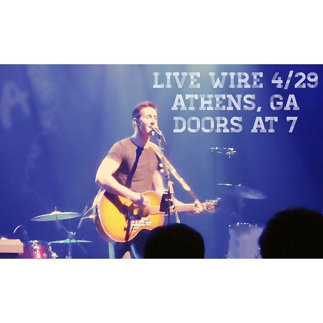 Athens and Jefferson friends, i'm opening for @lilyrosemusic at Live Wire in Athens! full band show. come out 4/29 @7 🎶🎶