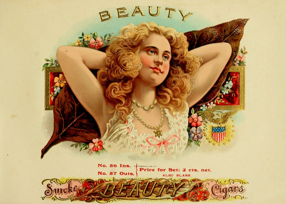Name brand marketing with smoke art and attractive imagery began to take off with the introduction of cigar box art