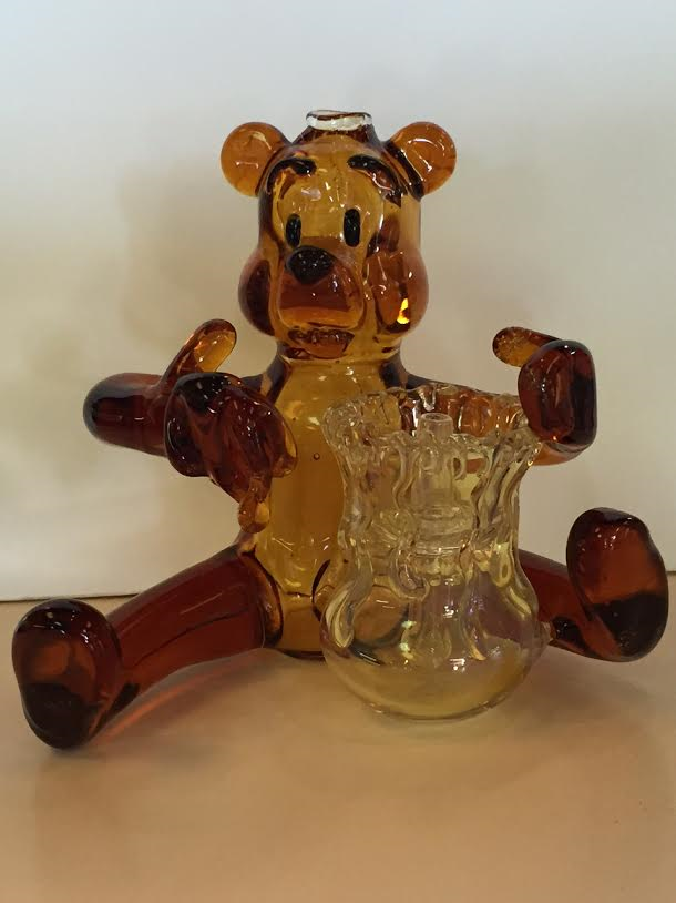 Winnie The Pooh Bear Glass Pipe
