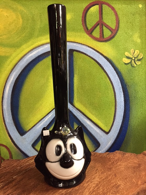 Felix the Cat ceramic water pipe with long stem