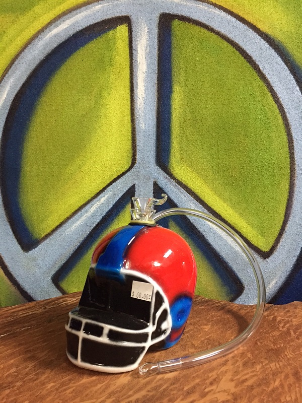 football helmet ceramic water pipe