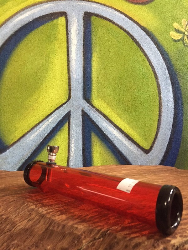 red acrylic tube style water pipe
