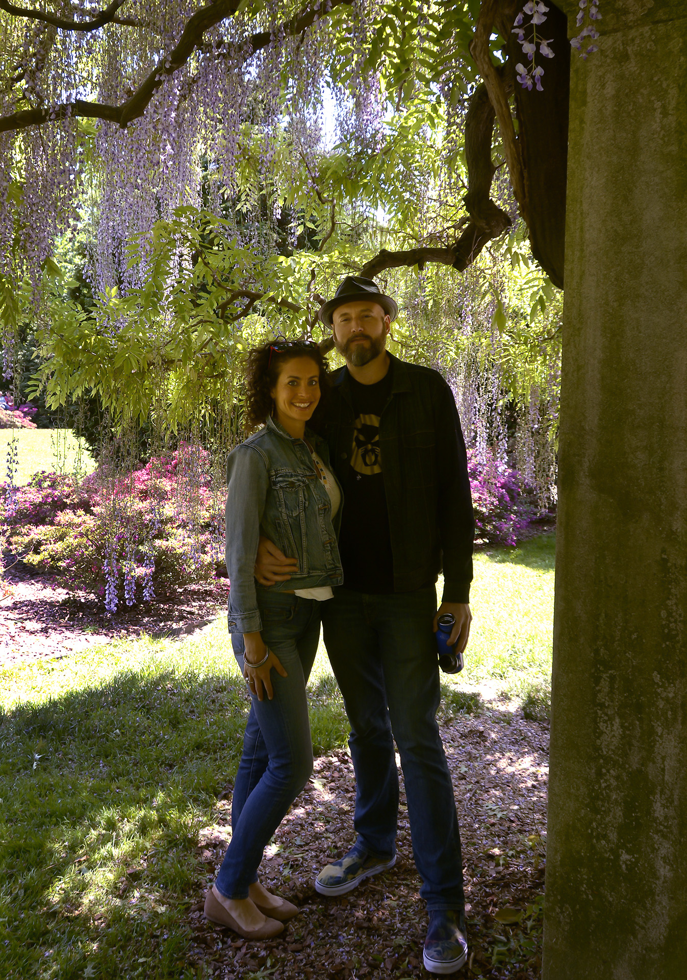 And when I'm not writing, I'm in the Brooklyn Botanic Garden with my husband
