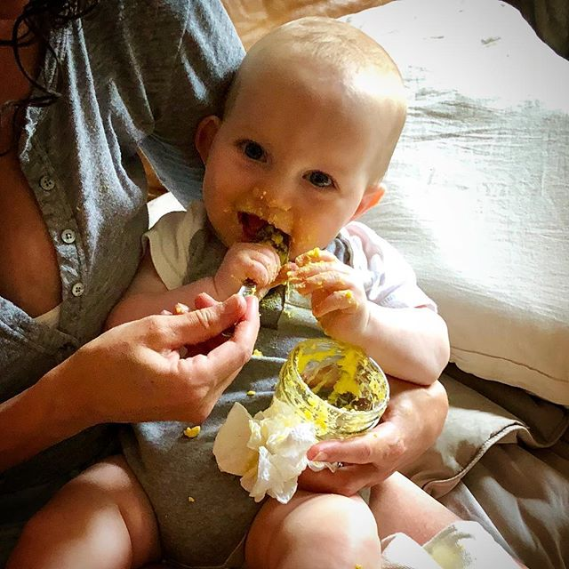 Naturally, my baby's first food is an egg #thewholeeggtheory #formerlyknownasfood #babyfood #baby