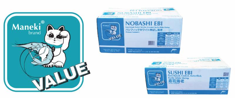 Maneki® Value Nobashi and Sushi Ebi