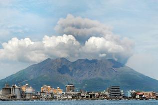 Sakurajima erupting