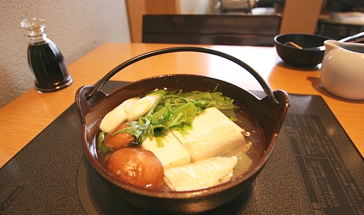 A simmering pot of Yudofu