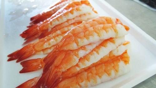Freshly processed Crane Bay® Ikejime Sushi Ebi