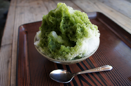 A favorite Nikko summer sweet is a snow cone made the natural ice.