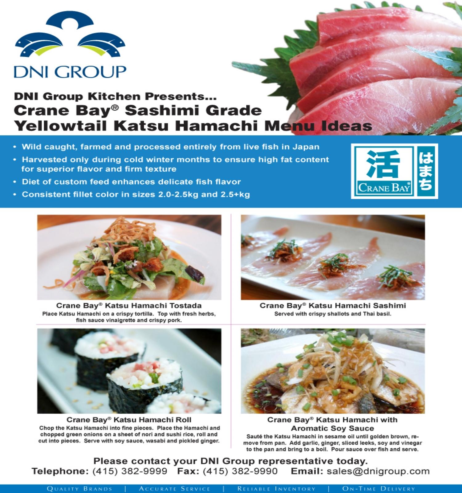 Katsu Hamachi — DNI Group - Sashimi Grade Seafood & Authentic ...