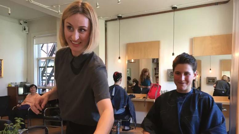 a person getting their hair cut buy missy clarkson