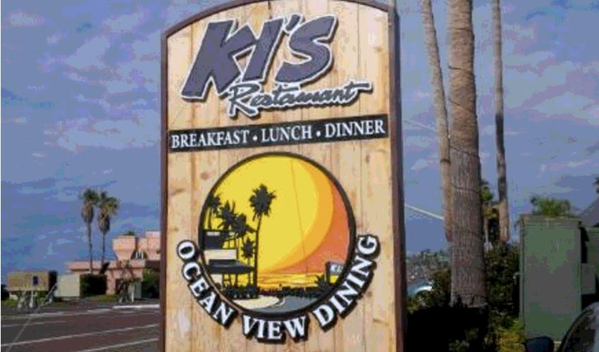 KI'S RESTAURANT - 2591 S. Coast Hwy. 101760.436.5236www.kisrestaurant.com