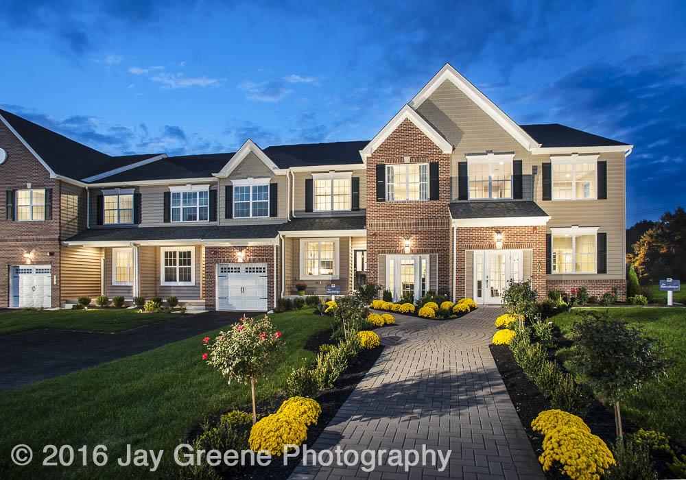 The winning photograph is a signature twilight photograph made for WB Homes of their Saddlebrook townhouse model.