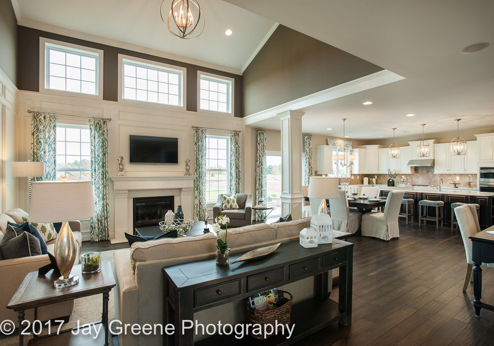 Best Family room by WB Homes of the Vistas at Highland Ridge model home. Also Best Living room, Best Bedroom and several others.