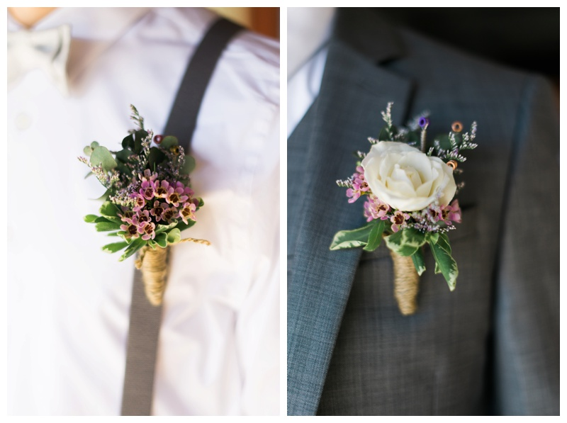 Tommy is a musician, so Jenevieve had guitar strings incorporated into his boutonniere.