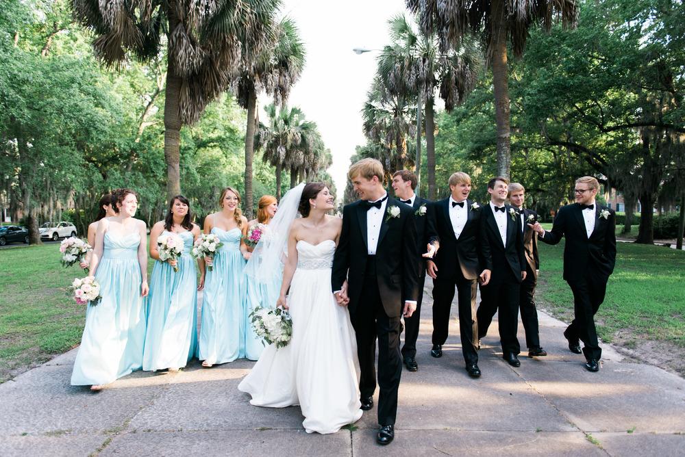 bridal party savannah wedding photographer