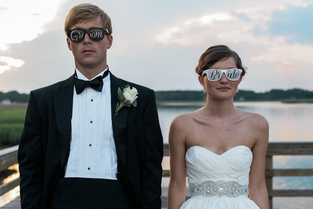 bride and groom sunglasses savannah wedding photographer