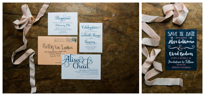 invitation suite uga athens wedding photographer
