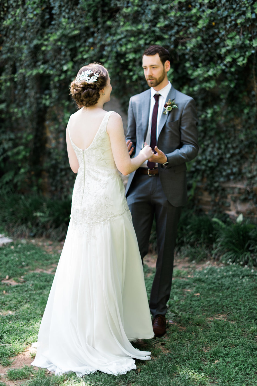 First Look Piedmont Park Atlanta Wedding photographer