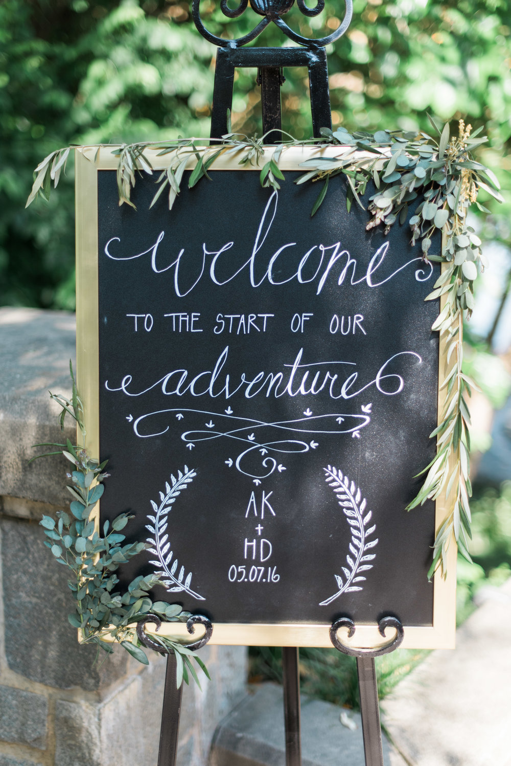 welcome sign dockside piedmont park atlanta wedding photographer