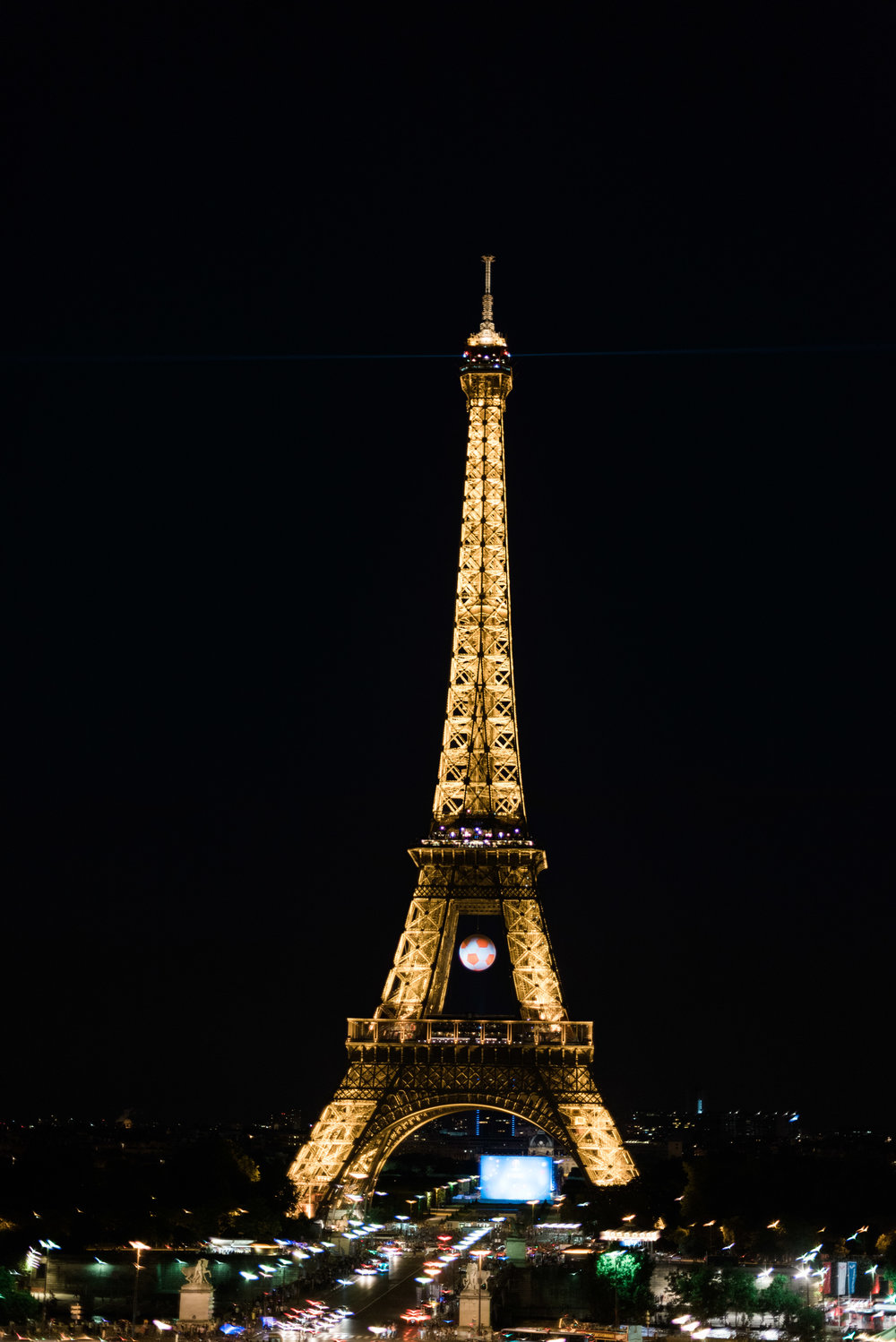 View of the Eiffel Tower at Tocadero
