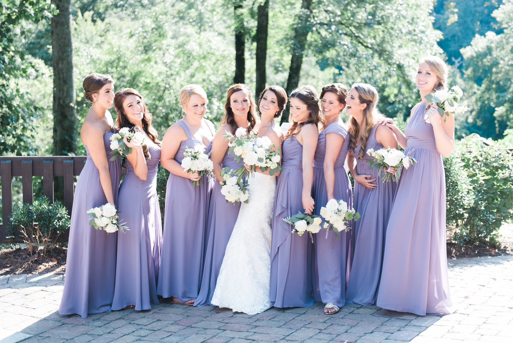 bridesmaids roswell mill ivy hall atlanta wedding photographer