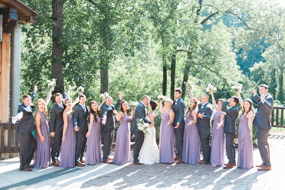 bridal party roswell mill ivy hall atlanta wedding photographer