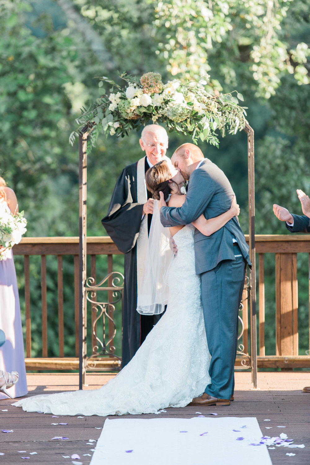 kiss ceremony ivy hall roswell atlanta wedding photographer