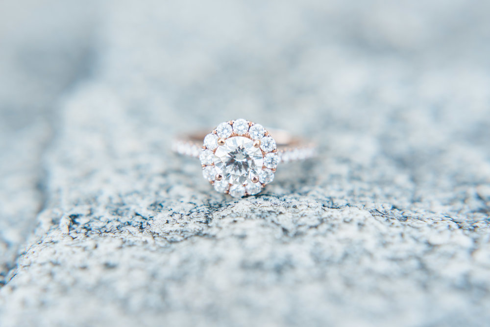 atlanta wedding photographer engagement ring