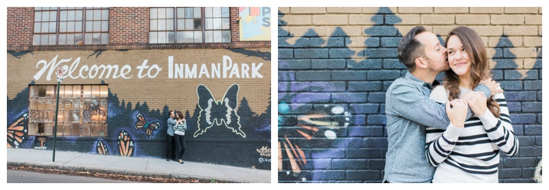 inman park atlanta engagement session