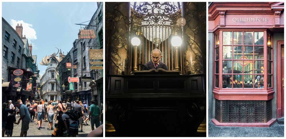 digaon alley gringotts bank quidditch harry potter