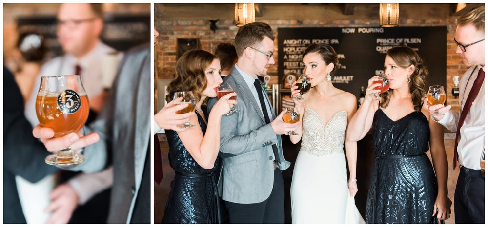 three taverns brewery decatur wedding photographer