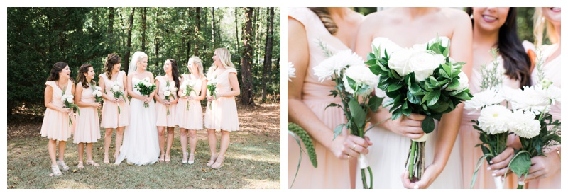 pink bridesmaids atlanta wedding photographer