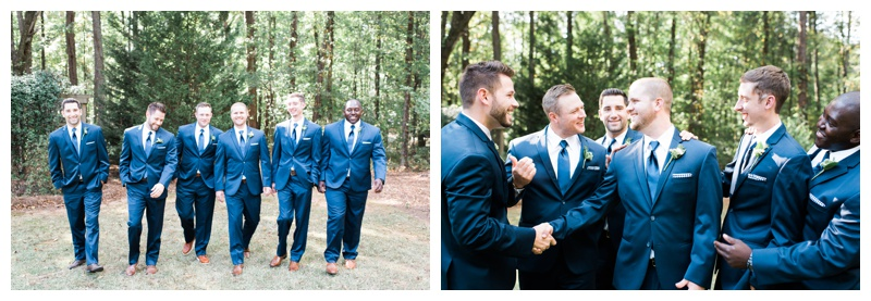 navy blue groomsmen atlanta wedding photographer